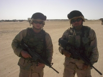 Spc. Silva and Sgt. Plante in full battle-rattle
